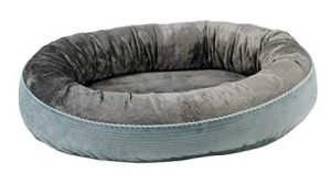 Grey dog bed