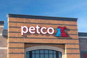 Petco storefront with blue sky in background