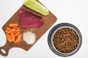 Ingredients of a dog food