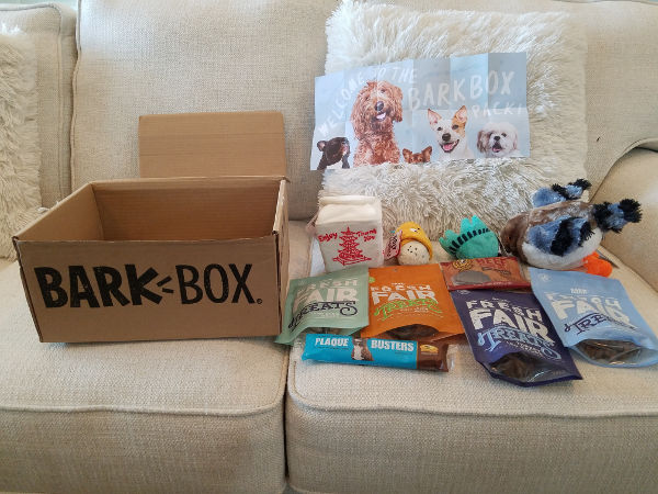 Contents of my first BarkBox