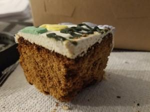 Slice of It's Your BarkDay Cake