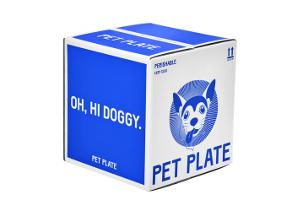 Closed Pet Plate box containing fresh dog food