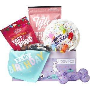 Chewy Goody Box filled with treats and toys