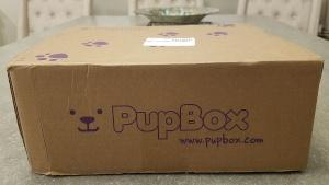 Unopened PupBox sitting on table
