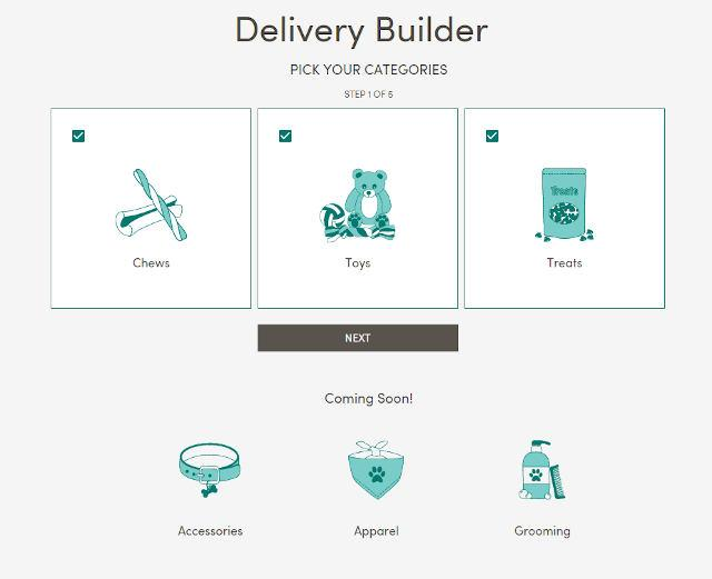List of categories on PupJoy's BYOD service