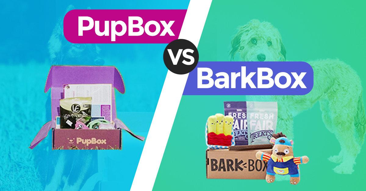 A PupBox and BarkBox next to each other in this comparison article