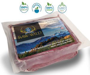 Package of Raw Wild dog food