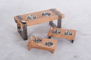 Elevated stand for dog bowls